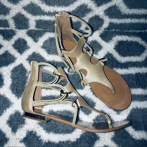 Gold Aldo Sandals